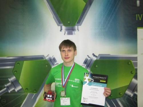 Иван Сунцов и робот fischertechnik
