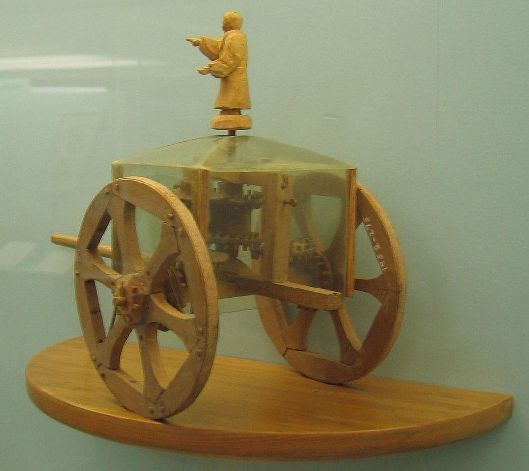 Модель компаса-колесницы