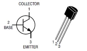 Назначение выводов транзистора 2N2222
