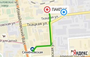 Карта проезда в офис ПАКПАК.РУ