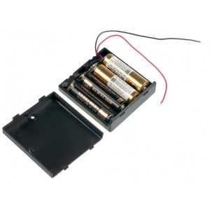Купить 4xAA battery holder (square with cover)  в магазине ПАКПАК